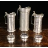 Three Antique French Pewter Measures;