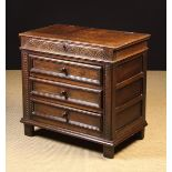 A 17th Century Oak Box-topped Chest of Drawers attributed to the West Country.