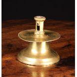 A Small 16th Century Brass Capstan Candlestick,