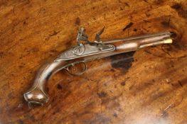 An Antique Flintlock Pistol signed T. Richards.
