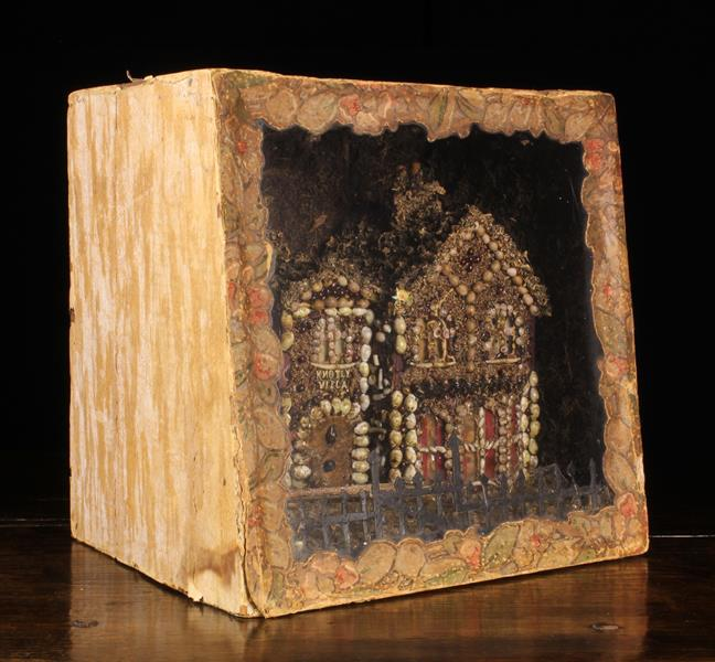 A Late 19th/Early 20th Century Diorama: A quirky architectural model of 'Knotly Villa' encrusted