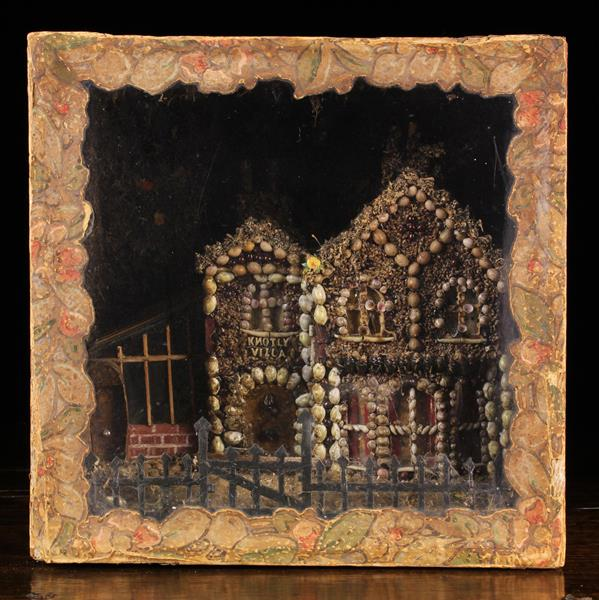 A Late 19th/Early 20th Century Diorama: A quirky architectural model of 'Knotly Villa' encrusted - Image 3 of 3