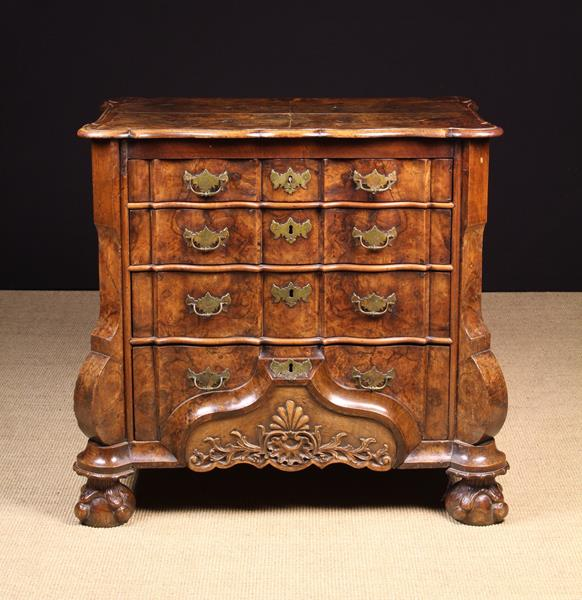 A Fine 18th Century Walnut Dutch Ripple-front Commode. - Image 3 of 3