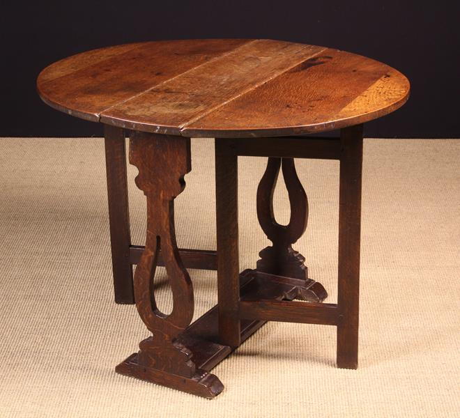 A Late 17th Century Oak Gateleg Table. - Image 2 of 2
