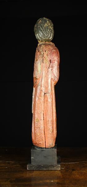 An Early 15th Century Spanish Wood Sculpture, - Image 3 of 3