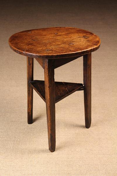 A Small 18th Century Cricket Table of rich colour & patination.