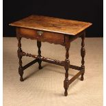 A Joined Oak Side Table, Circa 1700.