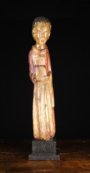 An Early 15th Century Spanish Wood Sculpture, - Image 2 of 3