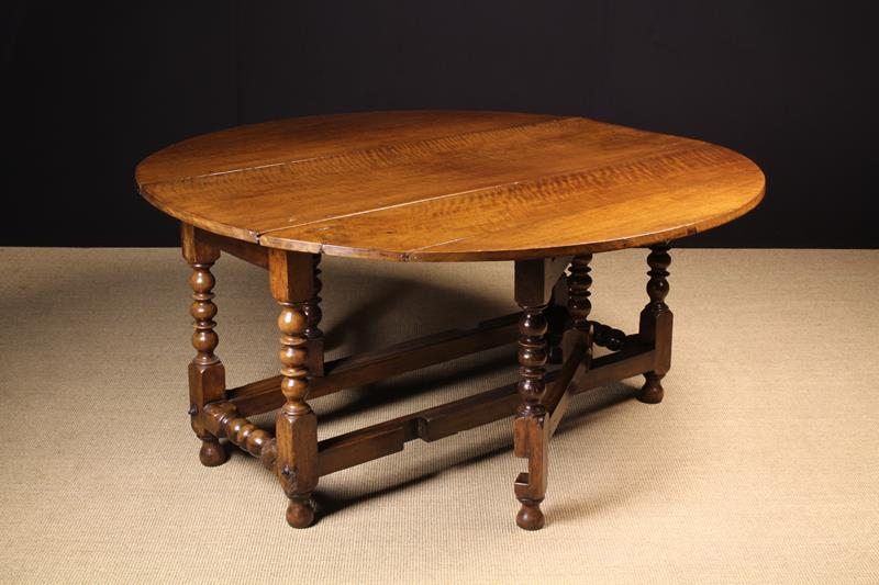 A Fine Charles II Walnut Gateleg Dining Table of generous proportions, - Image 2 of 2