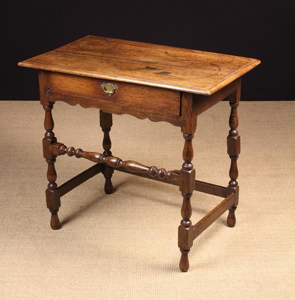 A Joined Oak Side Table, Circa 1700. - Image 2 of 2