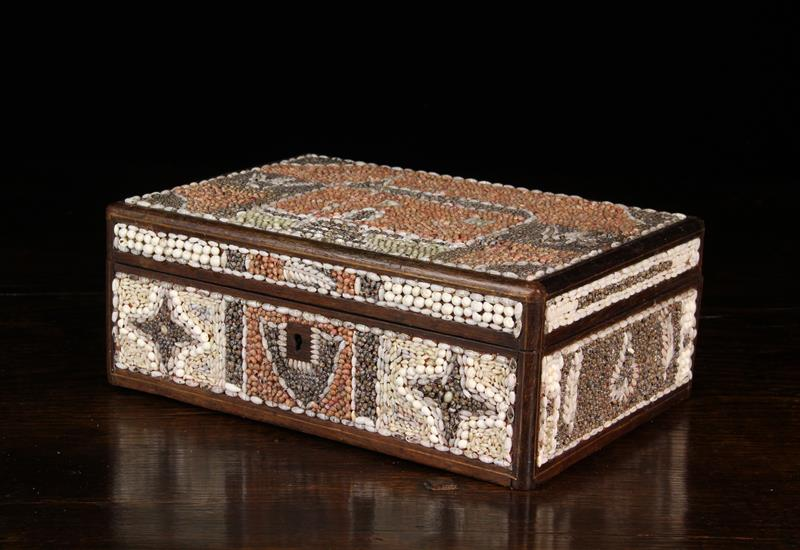 A 19th Century Shell Encrusted Folk-art Box. - Image 2 of 4
