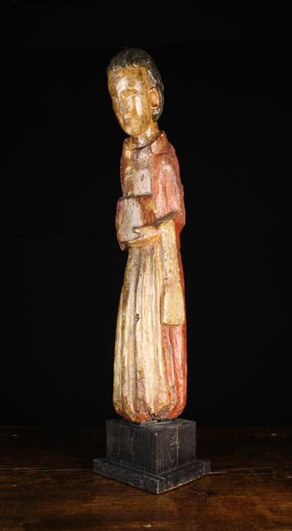 An Early 15th Century Spanish Wood Sculpture,