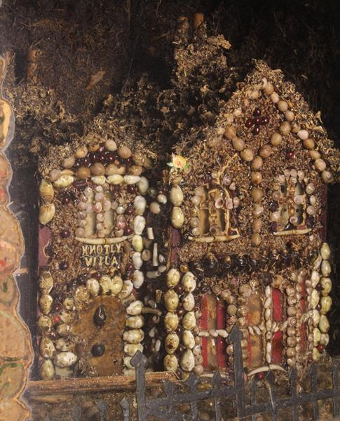 A Late 19th/Early 20th Century Diorama: A quirky architectural model of 'Knotly Villa' encrusted - Image 2 of 3