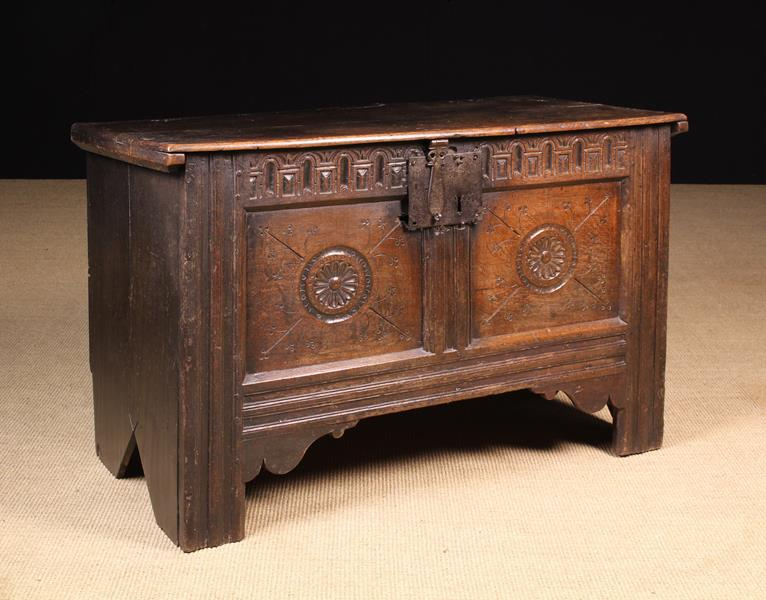 A Late 16th/Early 17th Century Oak Coffer.