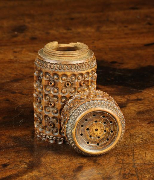 A 19th Century Carved Cocquilla Nut Shaker. - Image 2 of 3