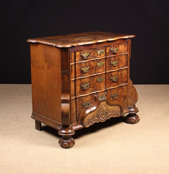 A Fine 18th Century Walnut Dutch Ripple-front Commode. - Image 2 of 3