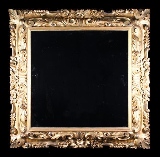 A 19th Century Gilt Framed Wall Mirror.