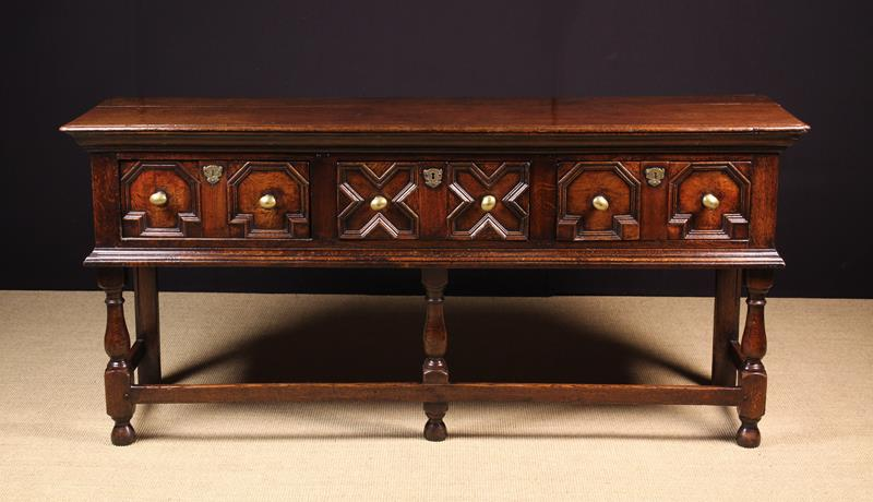 A Late 17th/Early 18th Century Joined Oak Low Dresser of fine colour and patination. - Image 2 of 2
