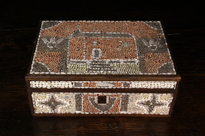 A 19th Century Shell Encrusted Folk-art Box. - Image 4 of 4