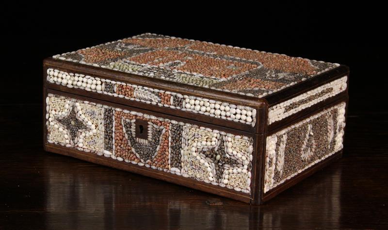 A 19th Century Shell Encrusted Folk-art Box.