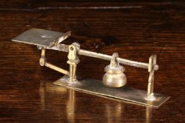 A Set of Late 18th/Early 19th Century Miniature Brass Beam Scales weighing ¼ oz up to 2 oz,