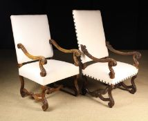 Two 19th Century French Fauteuil Armchairs in the Louis XIV Style.