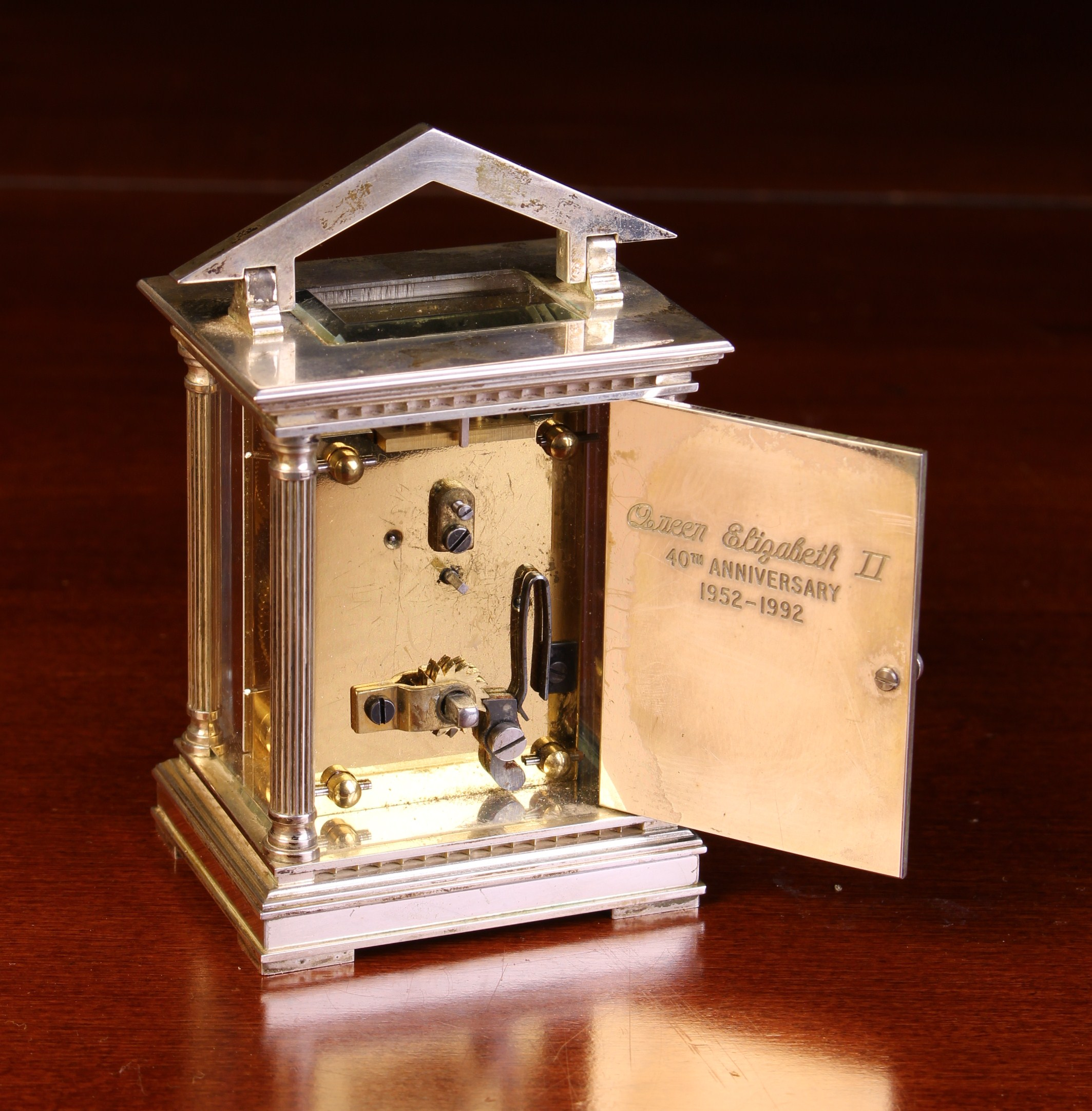 A Miniature Limited Edition Silver Carriage Clock by Chas. - Image 4 of 4