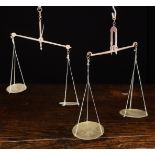 Two Pairs of Late 18th/Early 19th Century Miniature Brass & Iron Hanging Beam Scales,