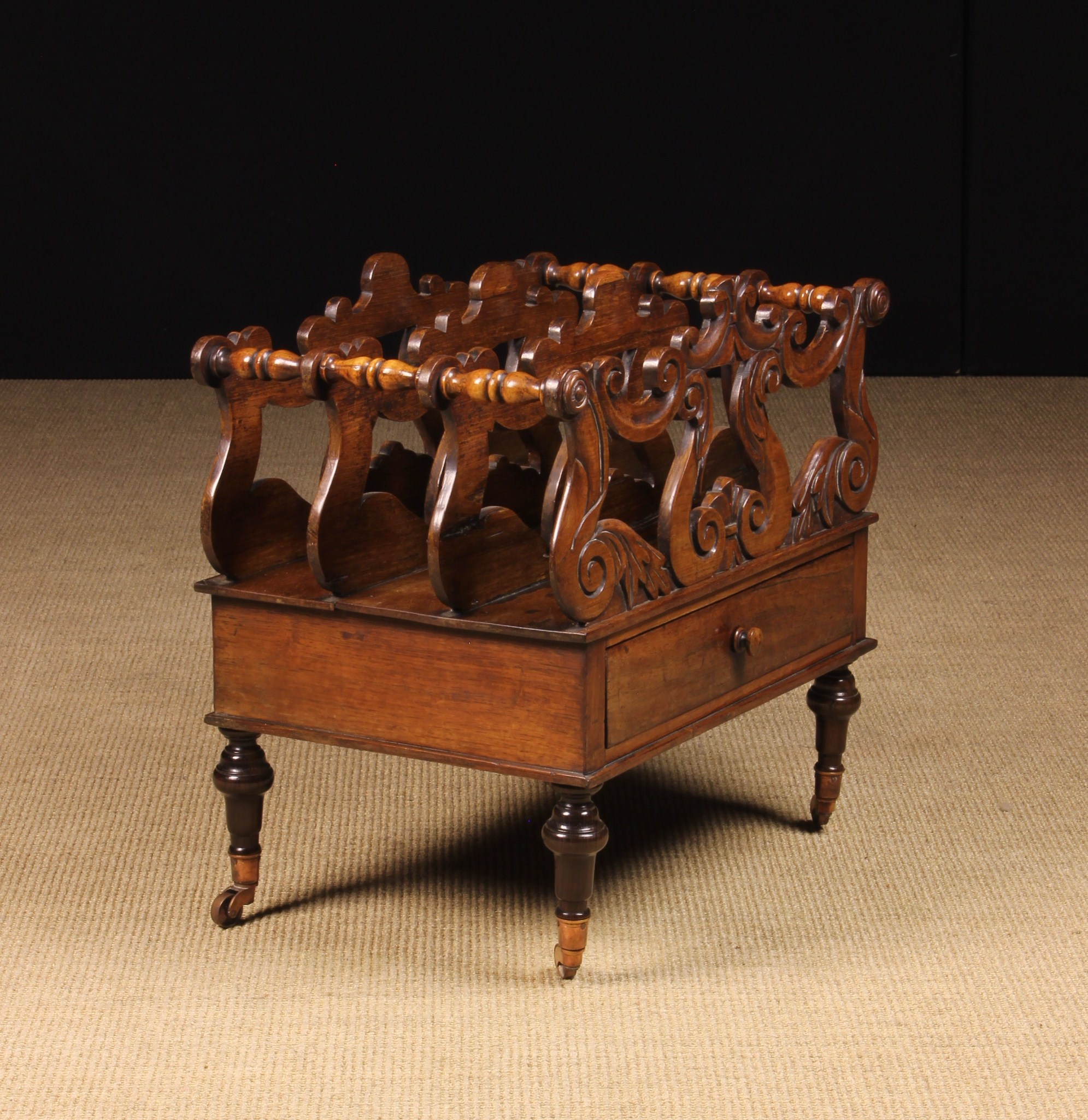 A 19th Century Rosewood Canterbury.