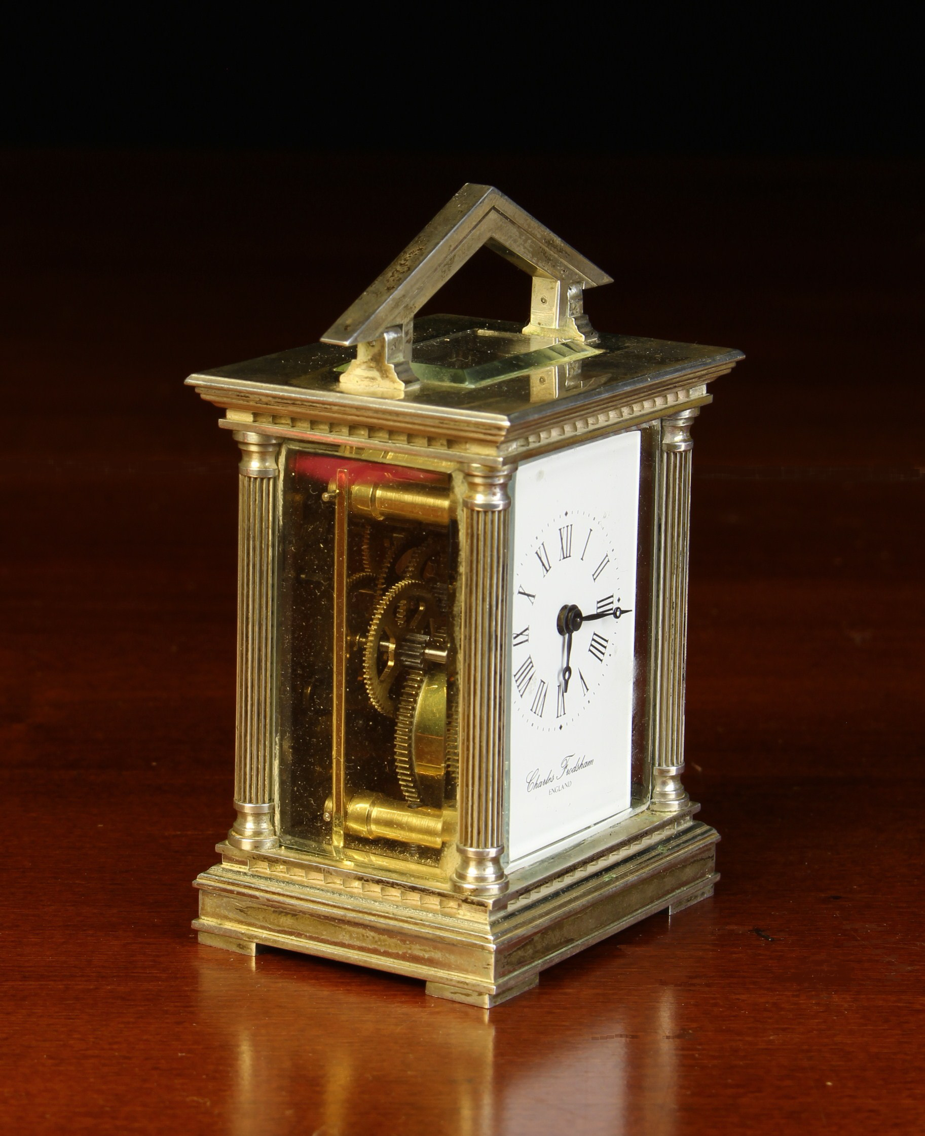 A Miniature Limited Edition Silver Carriage Clock by Chas. - Image 2 of 4