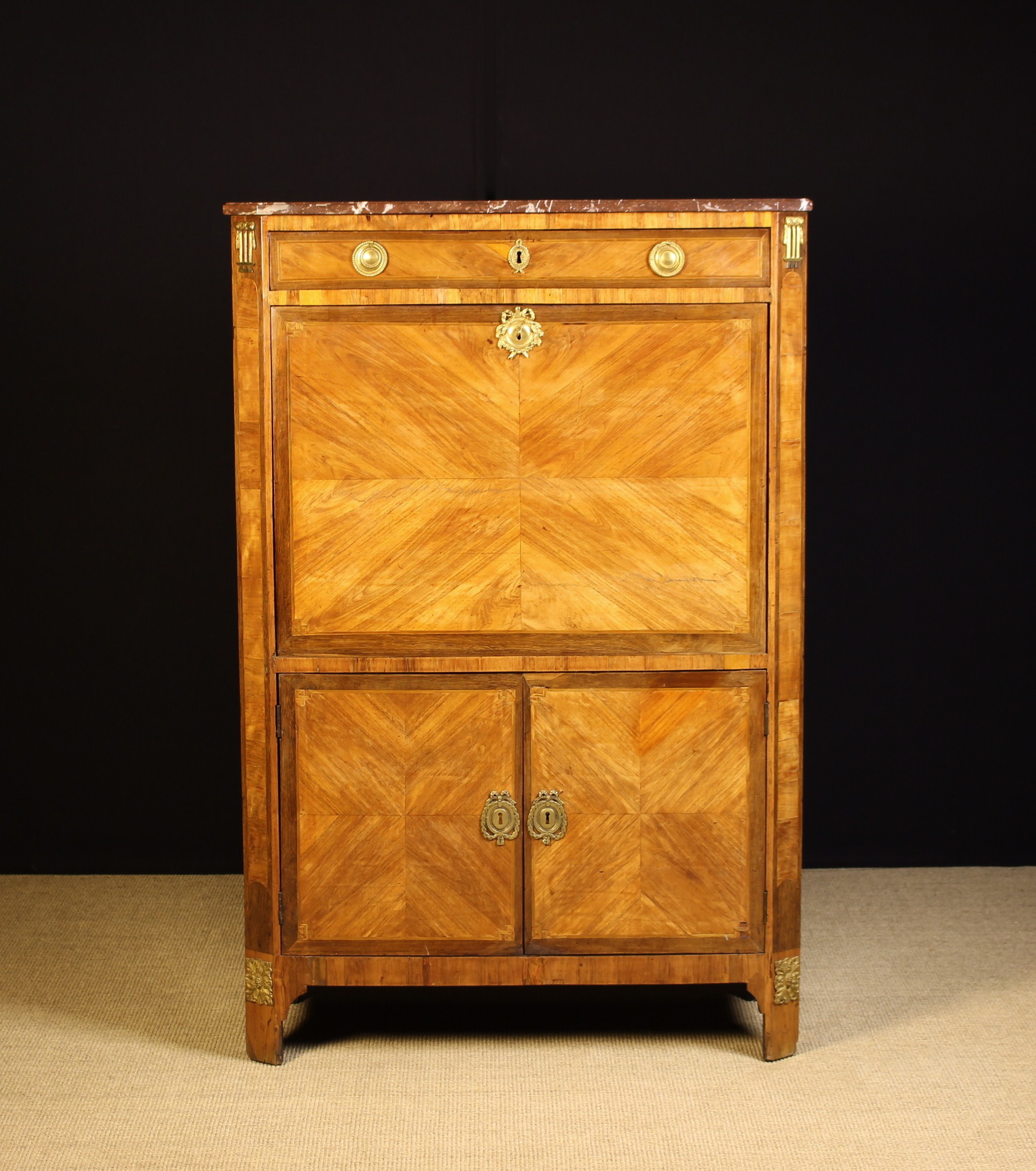 A 19th Century Continental Tulipwood Veneered Escritoire. - Image 3 of 4