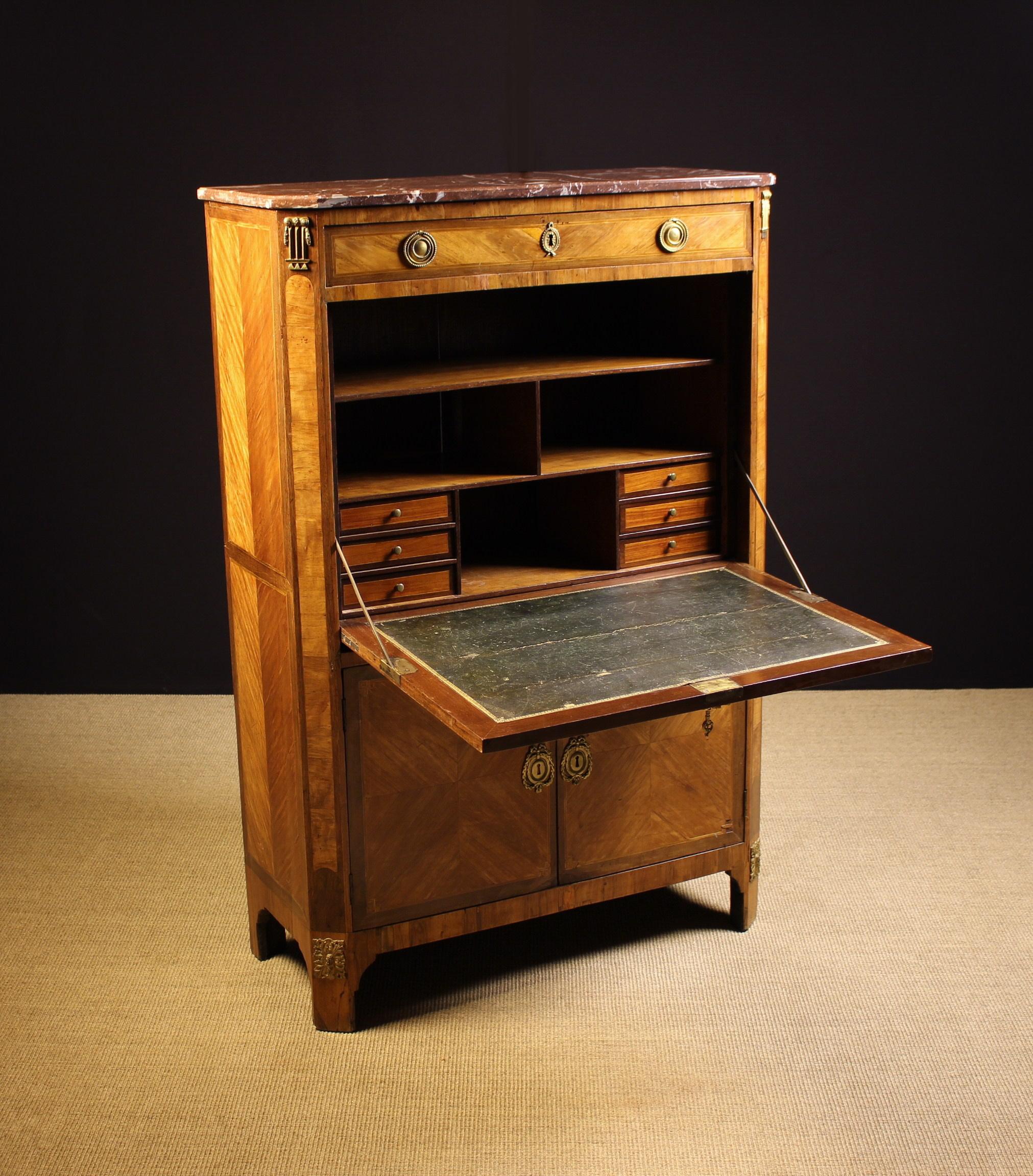 A 19th Century Continental Tulipwood Veneered Escritoire. - Image 2 of 4