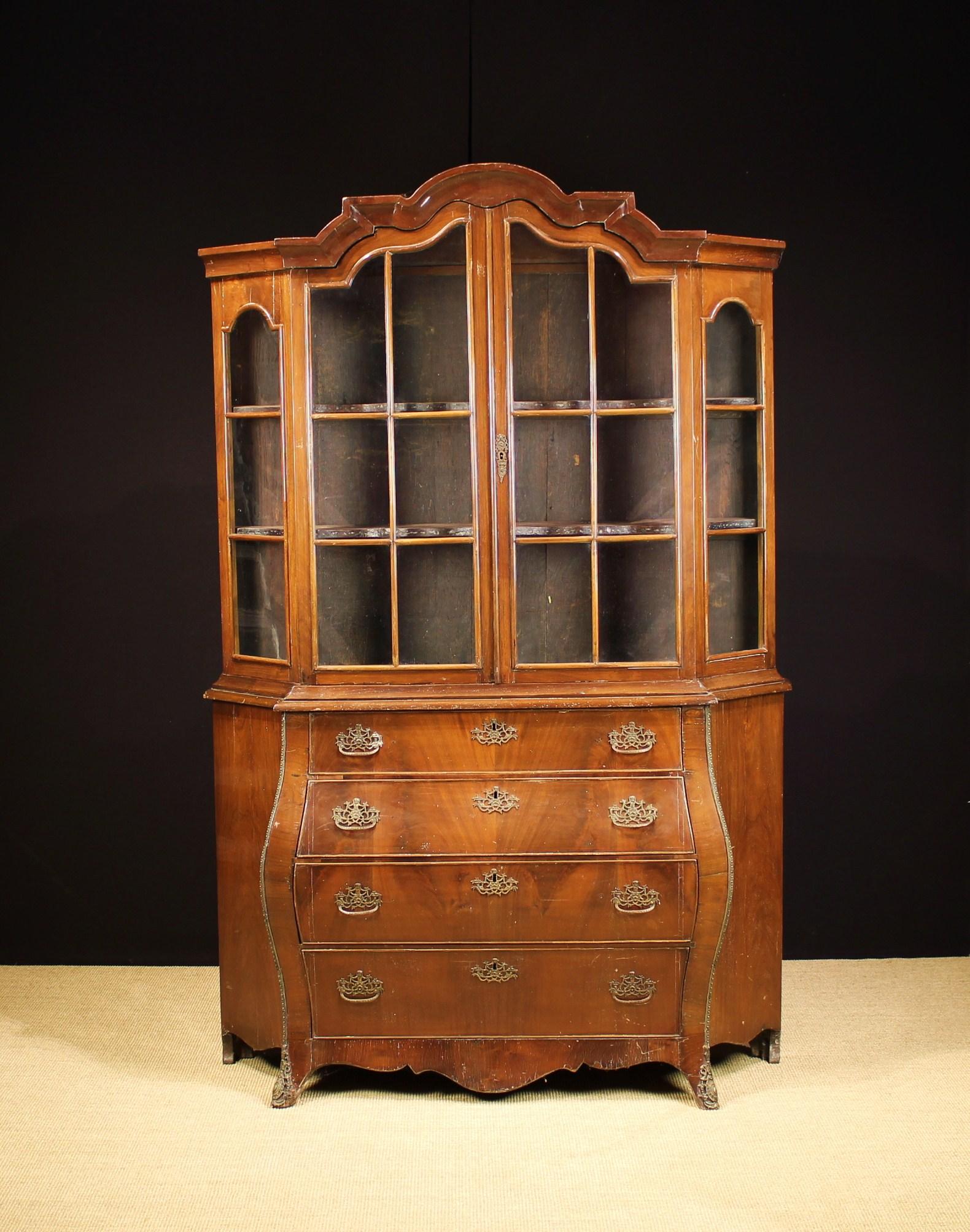 A Late 19th Century Dutch Vitrine Cabinet. - Image 2 of 2