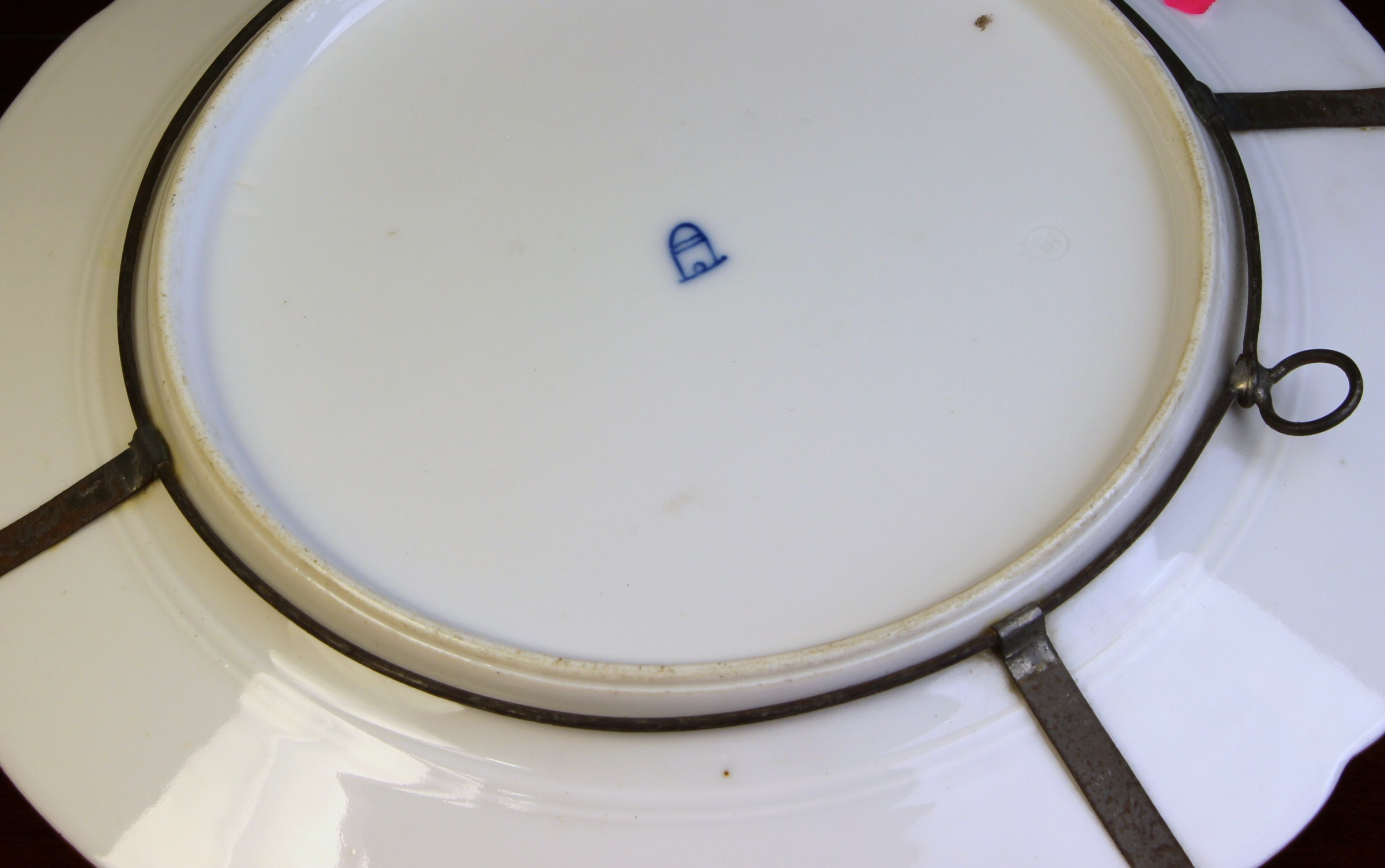 A Antique Royal Vienna Style Porcelain Cabinet Plate with C.M. Hutschenreather mark. - Image 3 of 3