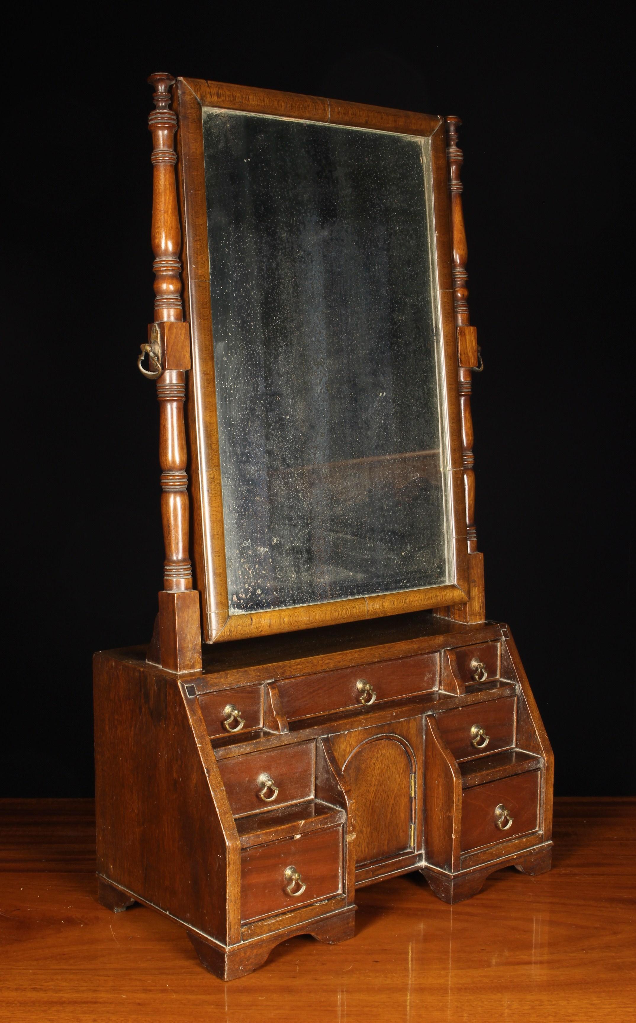 A Late Georgian Mahogany 'Waterfall' Dressing Mirror.