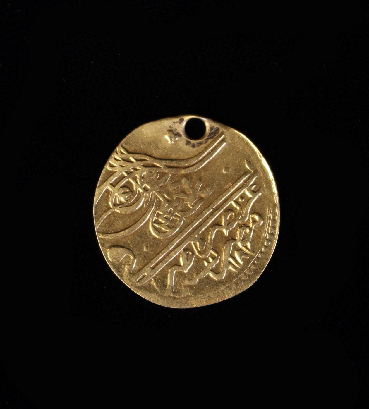 A 1720's Turkish Ottoman Empire Selina III Gold ½ Zeri Mahbub.