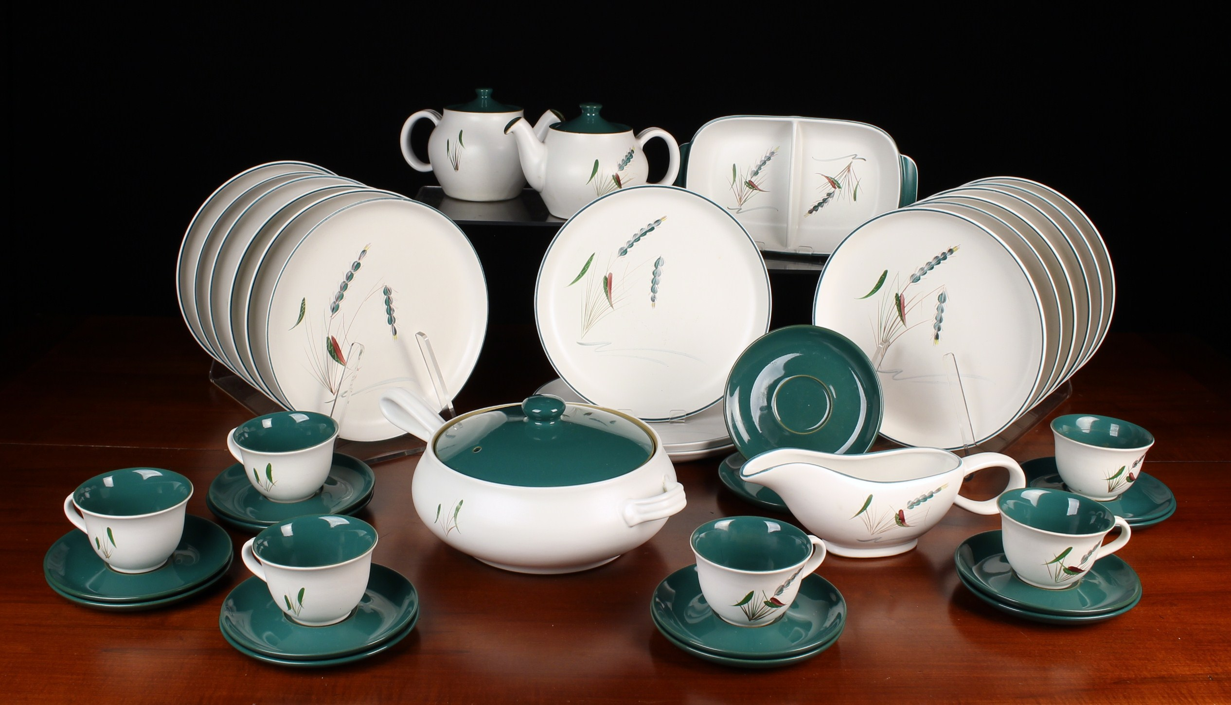 An Extensive Collection of Vintage Denby 'Greenwheat' Oven-proof Tableware by A.