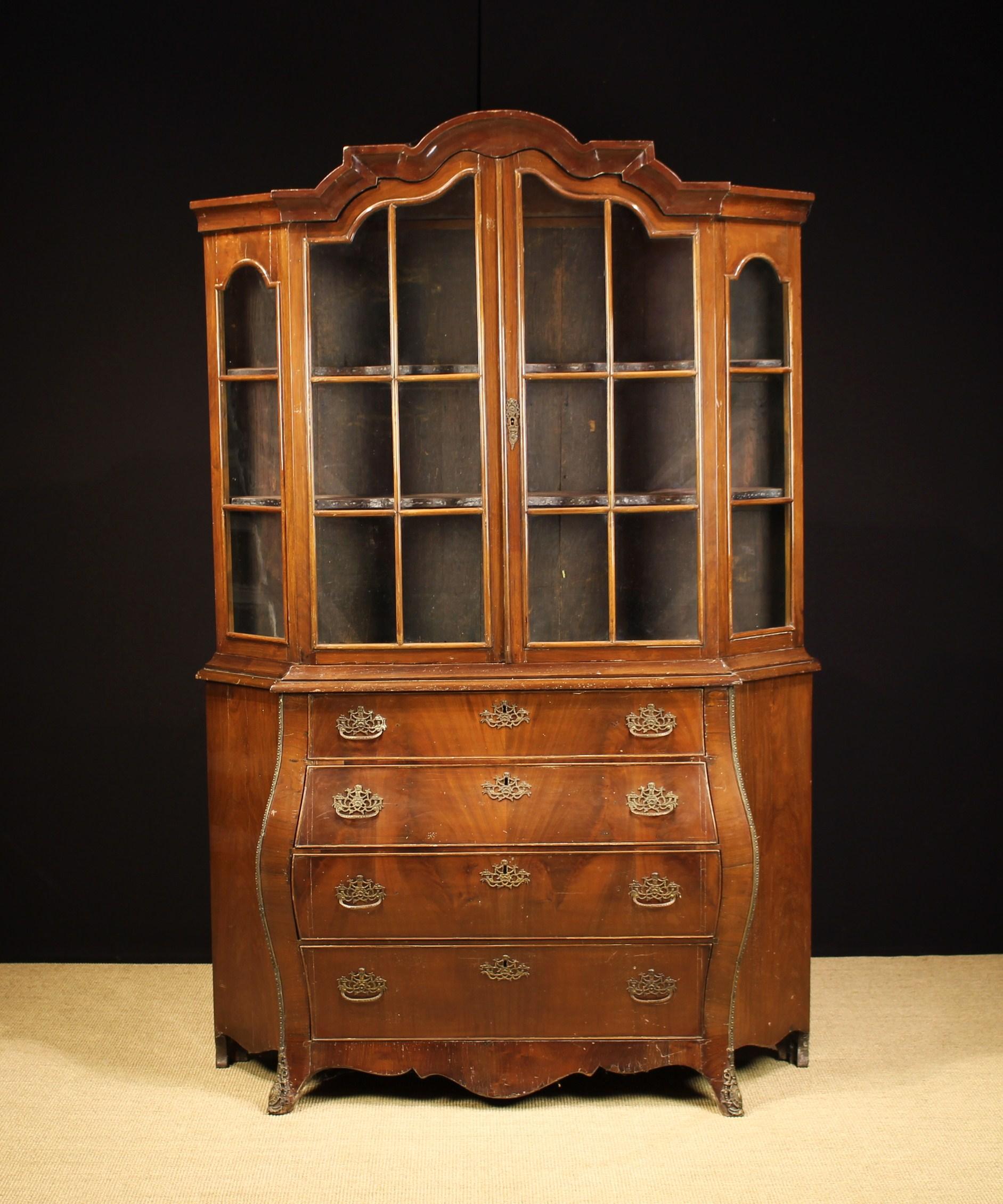 A Late 19th Century Dutch Vitrine Cabinet.