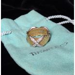 An Impressive Tiffany & Co. Jean Schlumberger Rope Twist 18 Ct Gold & Platinum Ring.