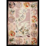 """A 'SatuMarketta Original' Quilted Bed Cover made from re-purposed vintage silk kimonos 51"""" x 75"""""""