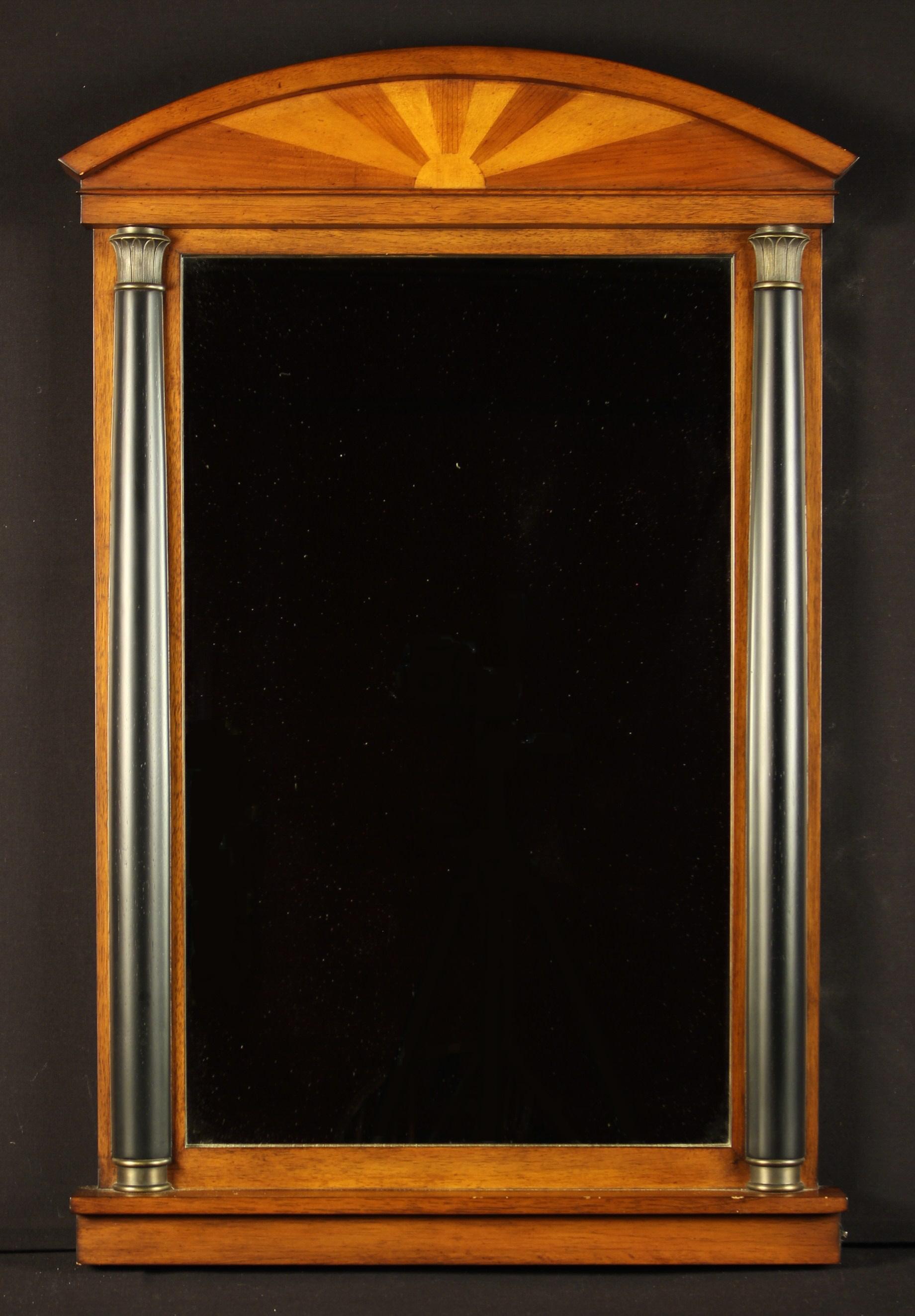 A Modern Mahogany Pier Mirror.