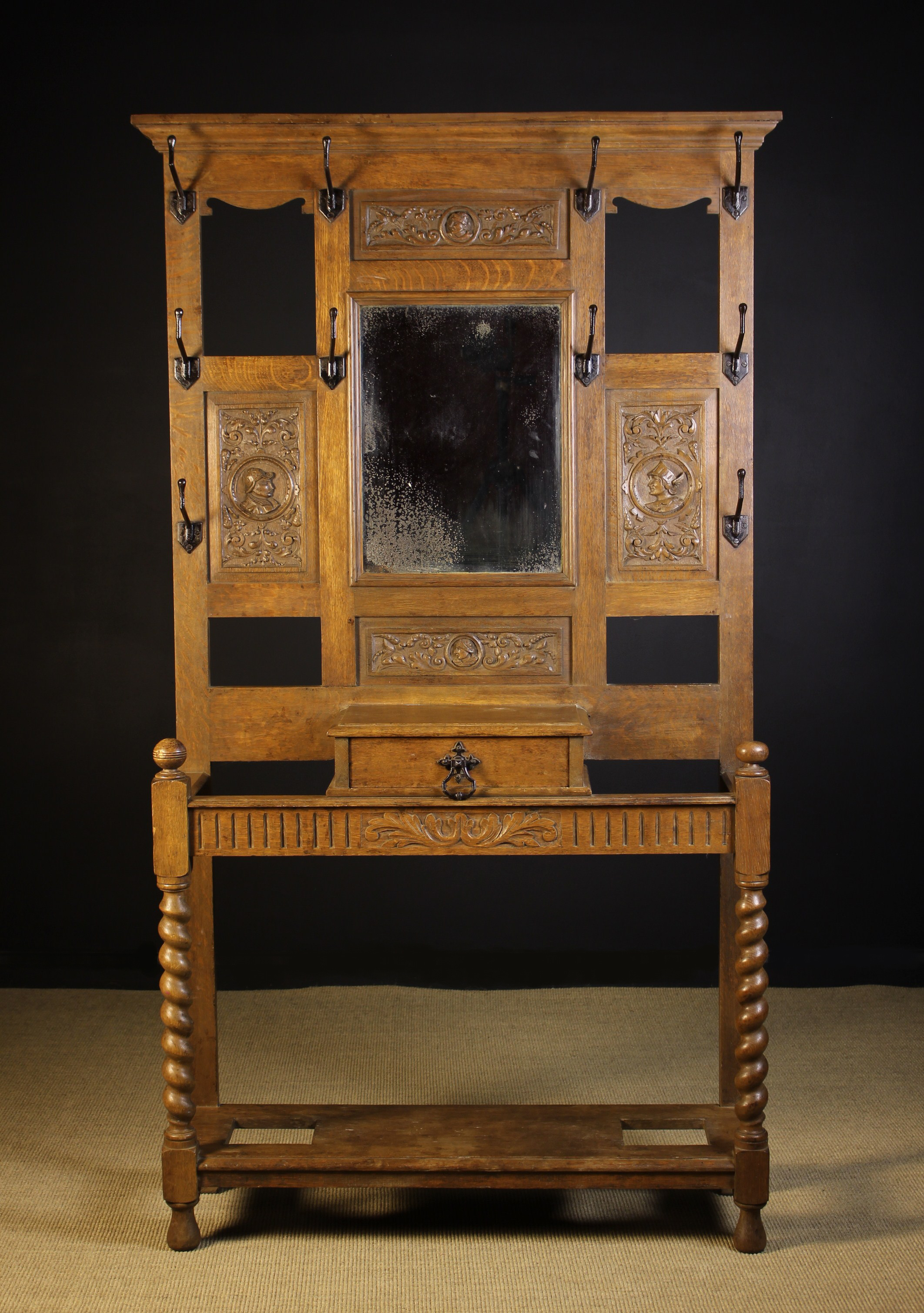 A Victorian Mid-Oak Hallstand. - Image 2 of 2