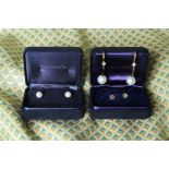 A Beautiful Pair of Tiffany & Co Cream Coloured South Sea Pearl Studs on 18Ct yellow gold