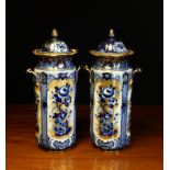 A Pair of Keeling & Co Ltd Losol Ware Bourbon Lidded Jars.