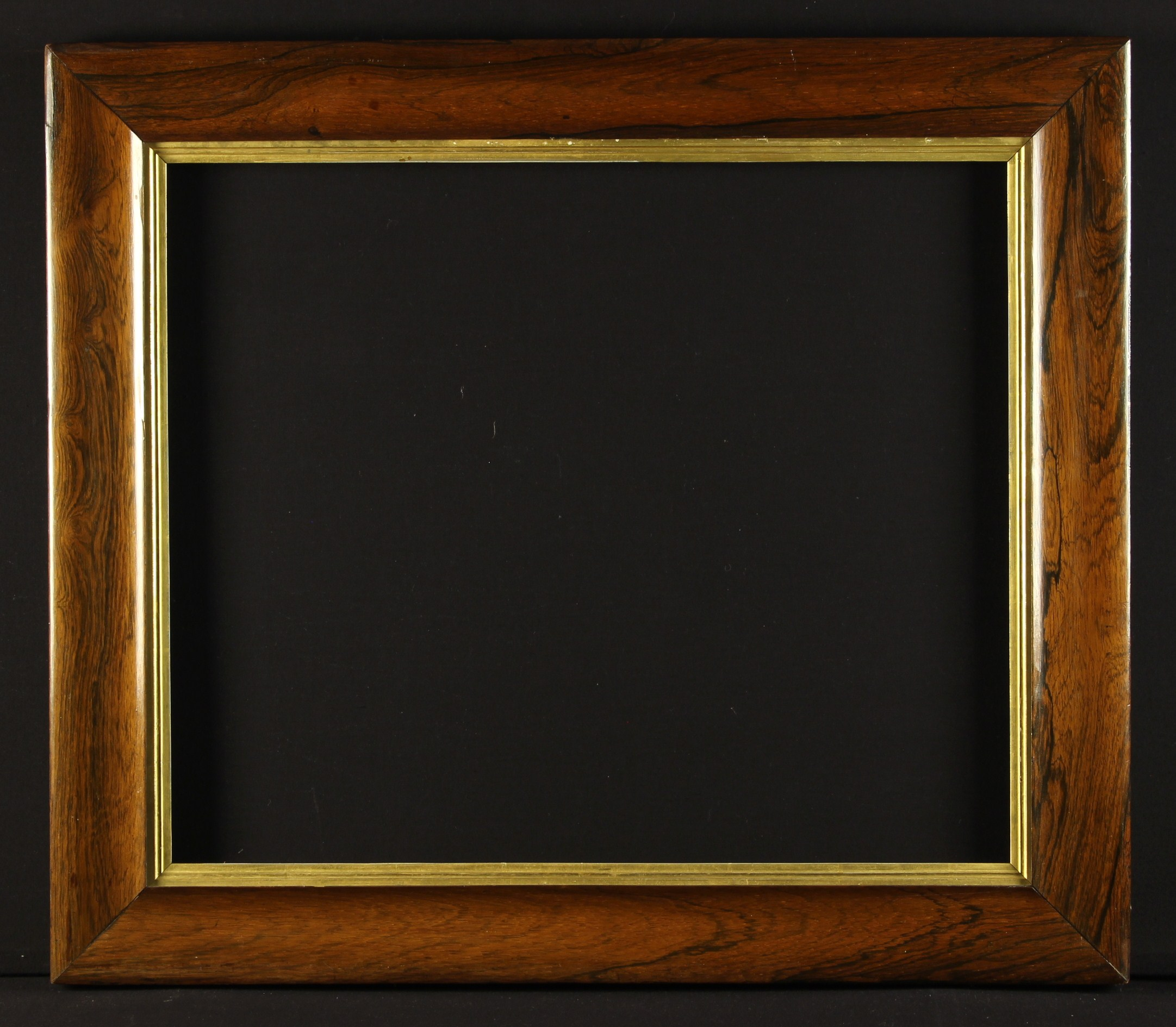 """A 19th Century Moulded Rosewood Picture Frame with gilt slip, 27"""" x 31"""" (68."""