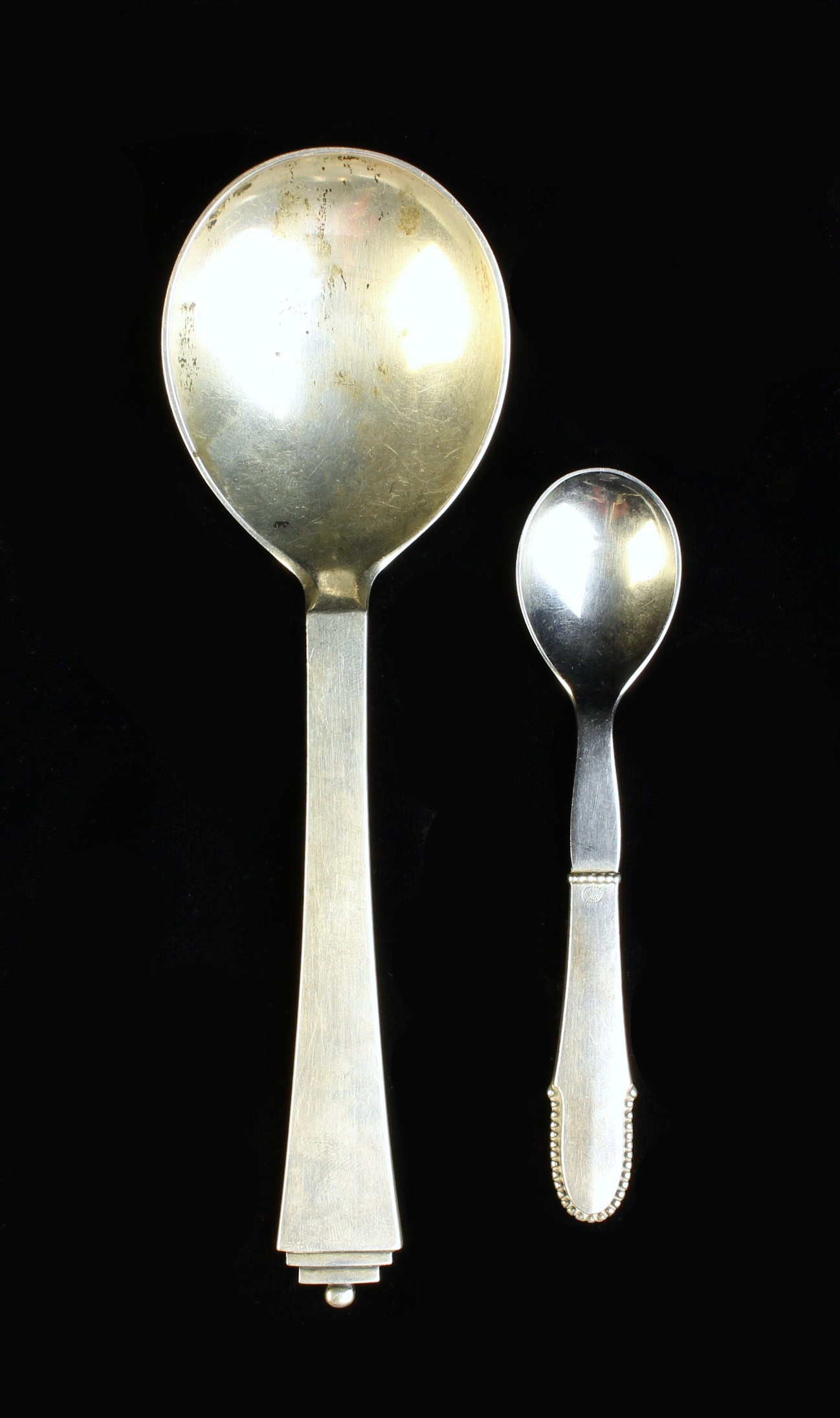 Two Danish Silver Spoons by Georg Jensen. - Image 2 of 2