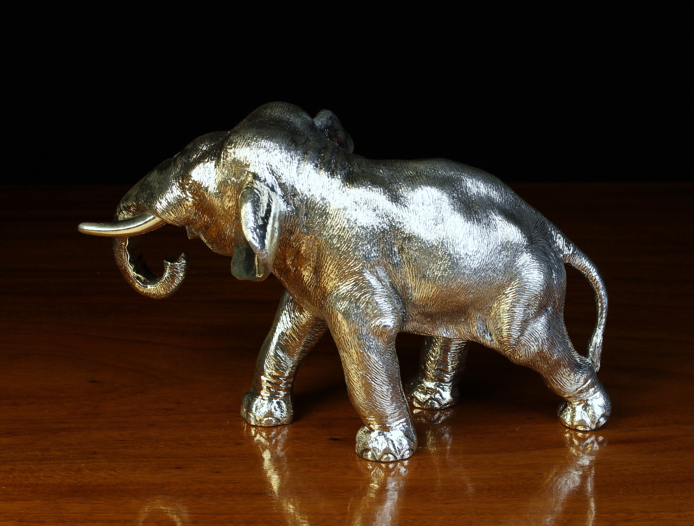 A Sterling Silver Clad Study of an Elephant stamped 925 with Assay marks for Sheffield 1995 and - Image 4 of 4