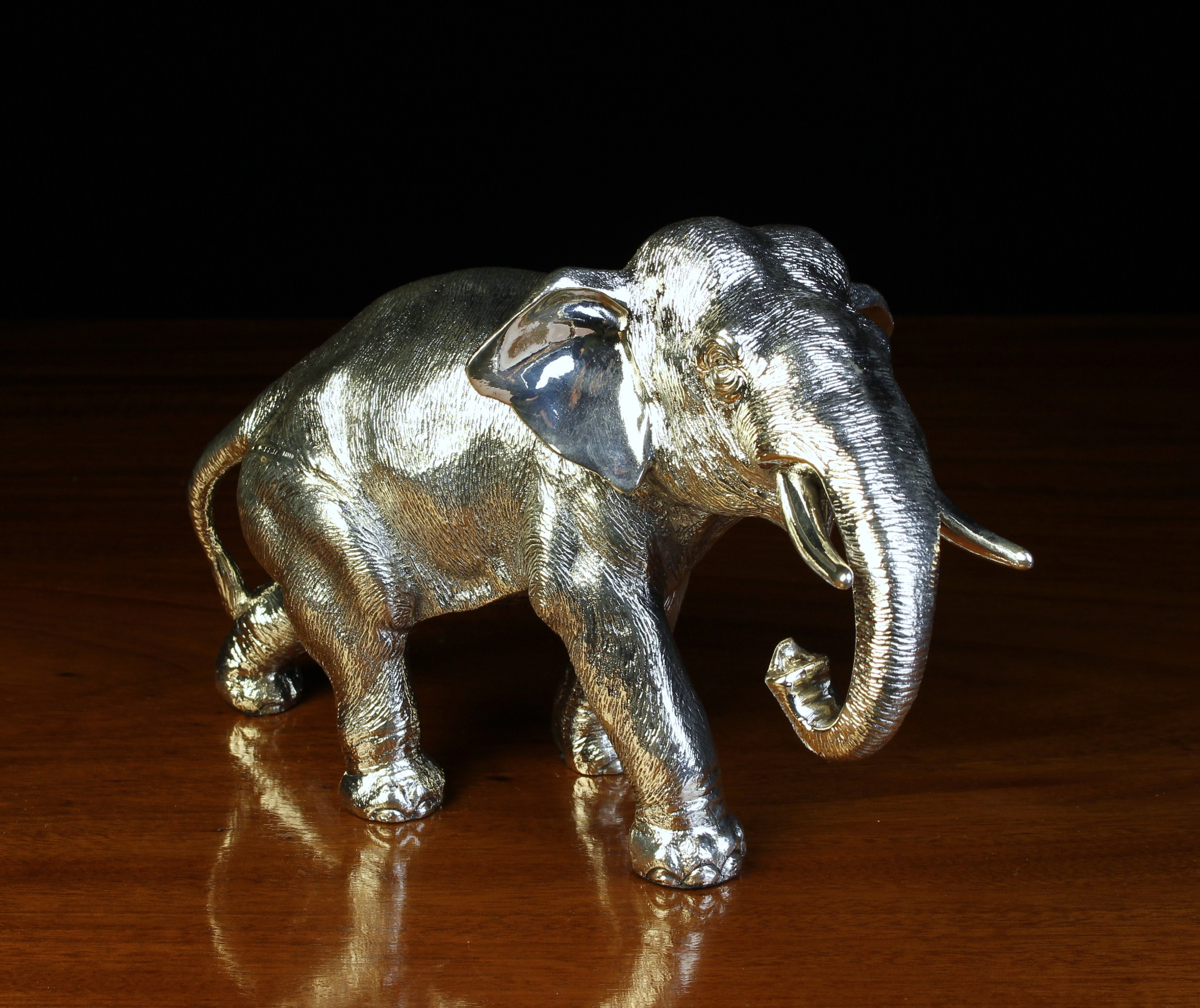A Sterling Silver Clad Study of an Elephant stamped 925 with Assay marks for Sheffield 1995 and - Image 2 of 4
