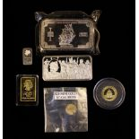 A Small Group of Silver & Gold Collectables: A 2005 ½ oz 999 Fine Gold Panda Bullion Coin in