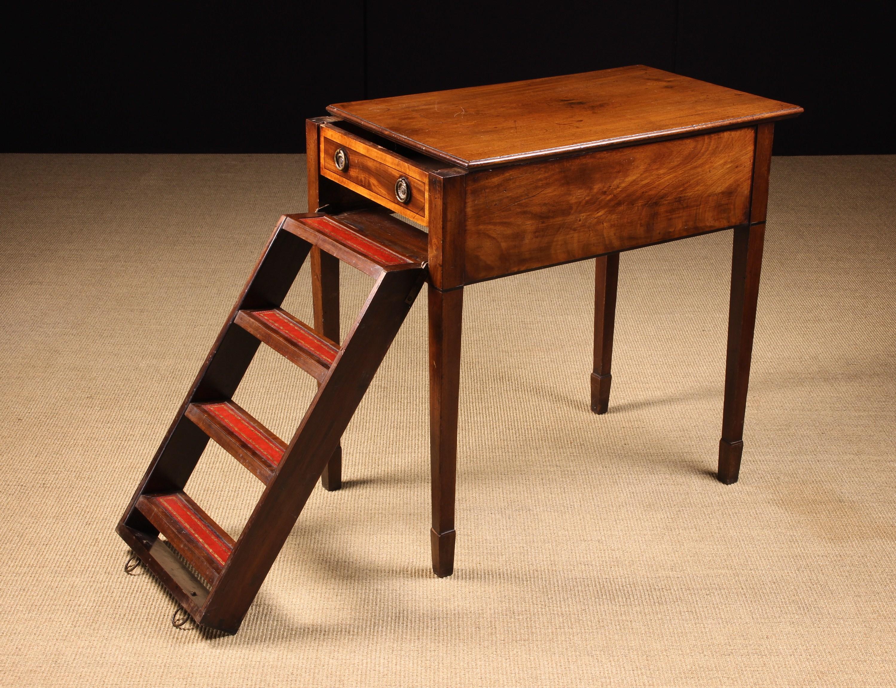 A Rare 19th Century Mahogany Metamorphic Side Table/Library Steps.